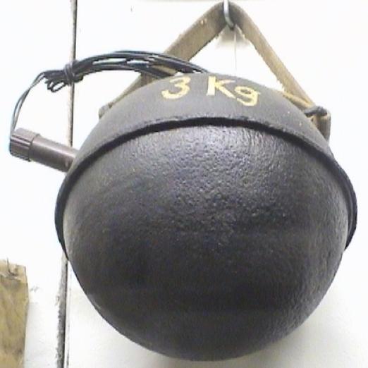 Подрывной сферический заряд Geballte ladung 3 Kg in Kugelform