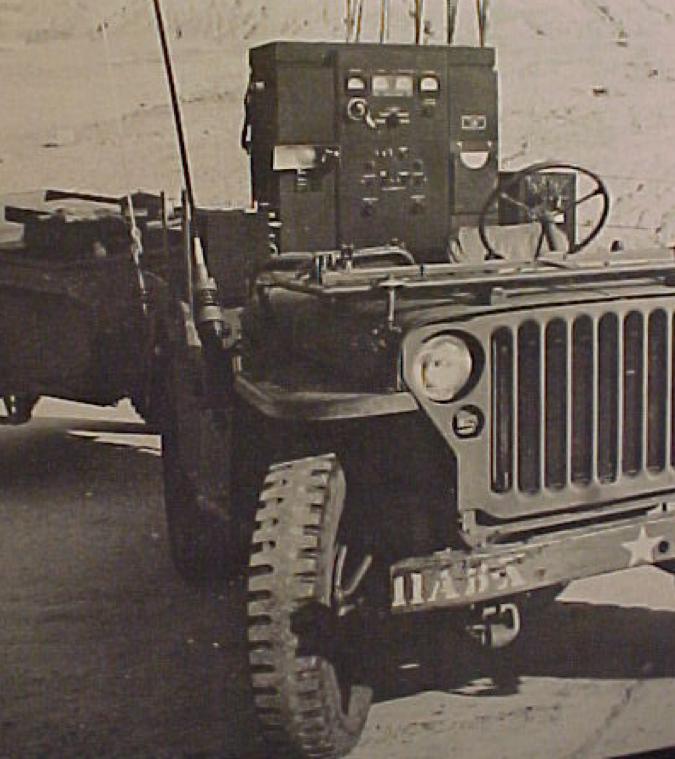 Радиостанция SCR-499 во время транспортировки