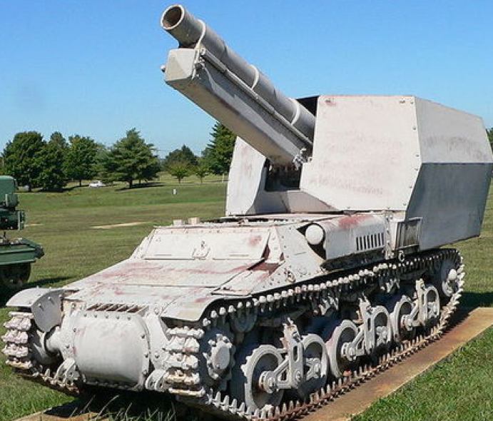 САУ 15cm sFH 135/1 auf Lorraine Schlepper(f)