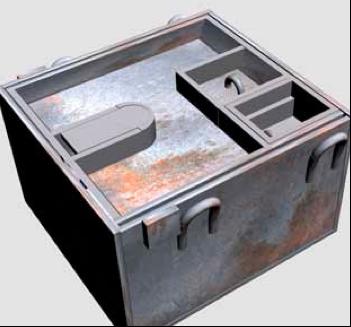 Рисунок противотанковой мины Pz.Schn.Mi