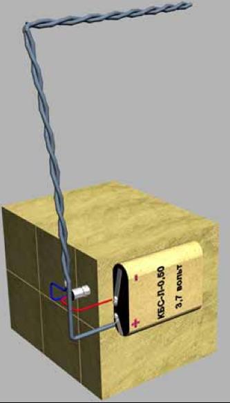 Рисунок противотранспортной партизанской мины c замыкателем КЗ