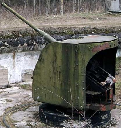 Орудие Б-24 обр. 1936 г. в береговом варианте