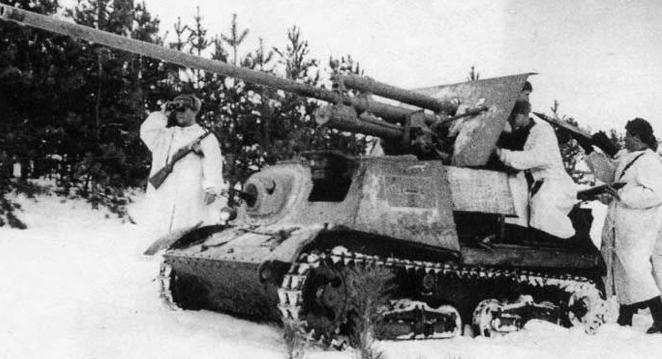 Противотанковая САУ ЗИС-30