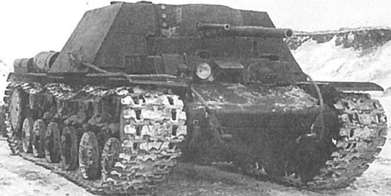 САУ КВ-7, первый вариант