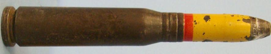 Выстрел 20x120 mm зенитного орудия Madsen 20-mm