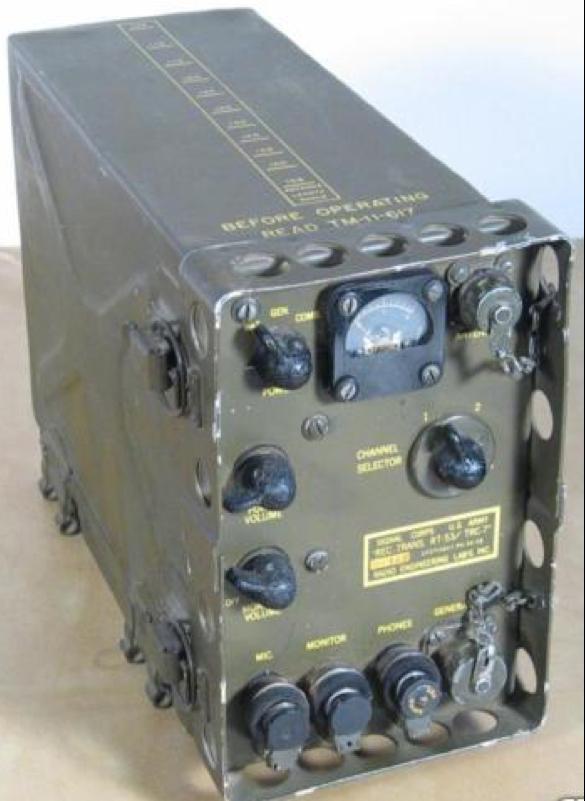 Портативная радиостанция РТ-53 AN/TRC-7, приемо-передающий блок
