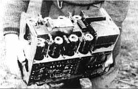Радиоприемник мины Ф-10, извлеченный из кожуха