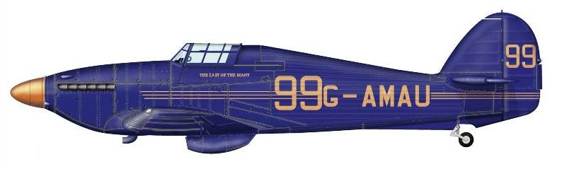 Bradic Srecko. Истребитель Hawker Hurricane.
