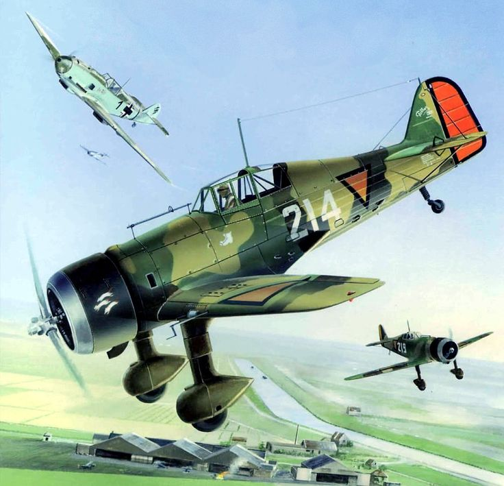 Postma Thijs. Истребитель Fokker DXXI.