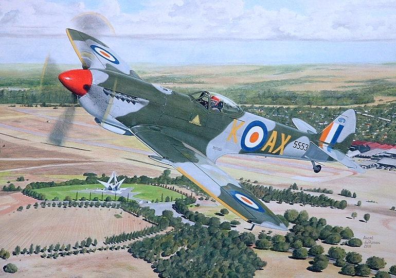 Andre du Plessis. Истребитель Spitfire.