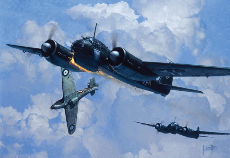 Hamilton Alex. Бомбардировщики Ju88A-1.