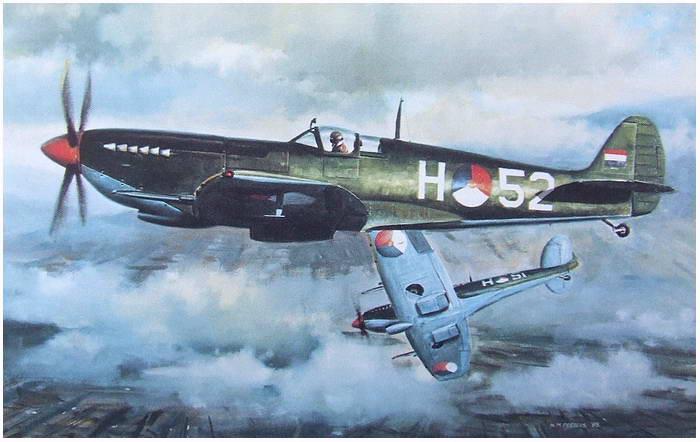 Peeters Nico. Истребители Spitfires.