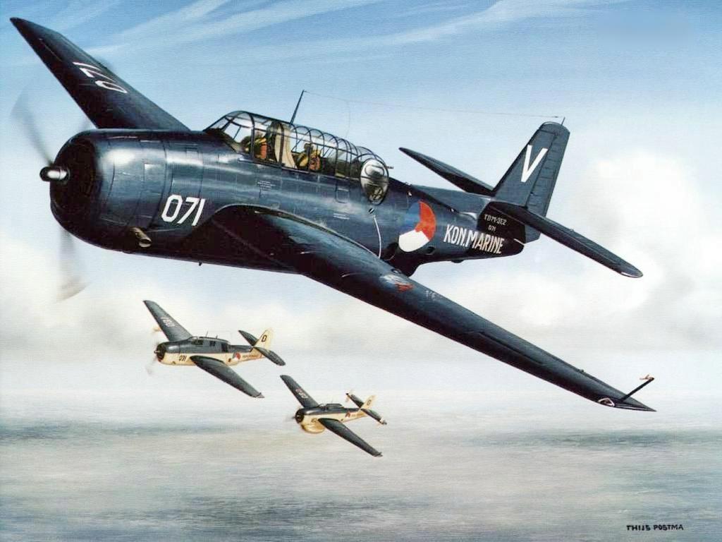Postma Thijs. Истребитель Northrop A-17.
