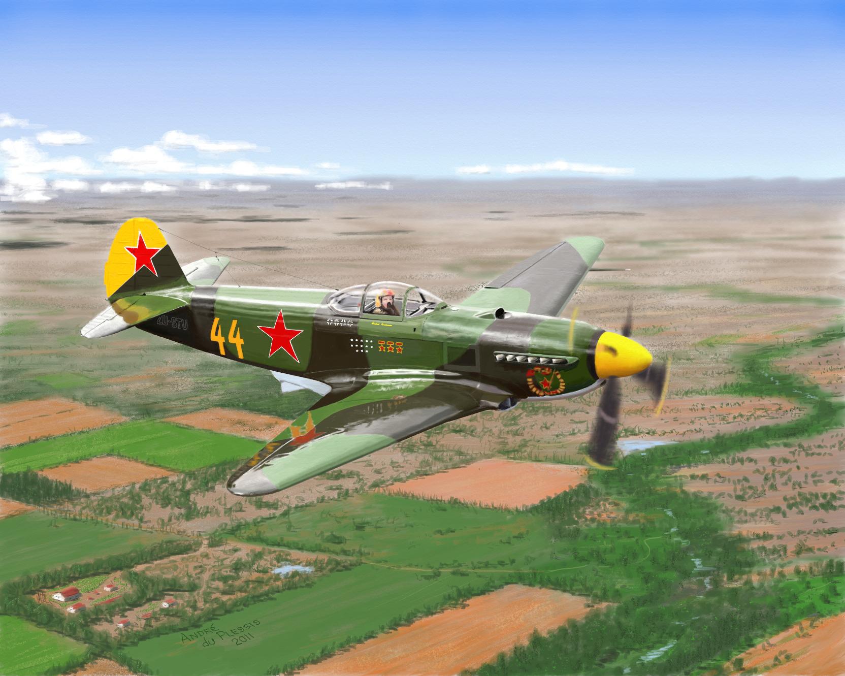 Andre du Plessis. Истребитель Як-3.
