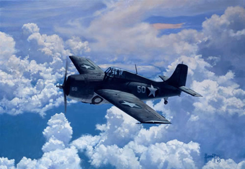 Hamilton Alex. Истребитель F-4F Grumman.