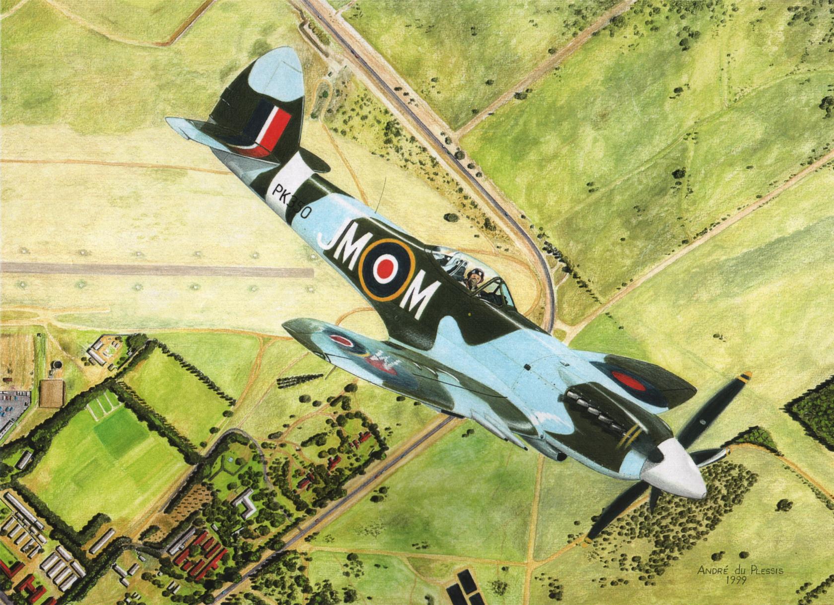 Andre du Plessis. Истребитель Supermarine Spitfire MK22.