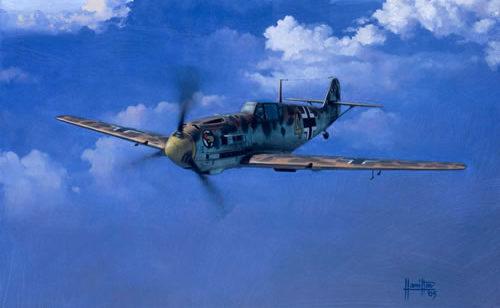 Hamilton Alex. Истребитель Bf -109-E7.