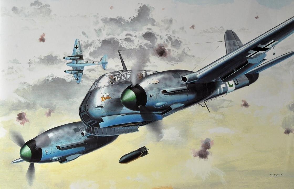 Frka Danijel. Истребитель Me-210.