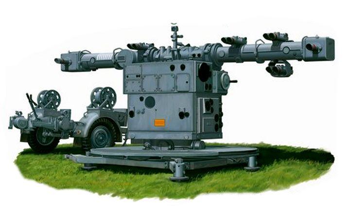 Postma Thijs. Зенитная батарея 8,8 cm Flak 36.