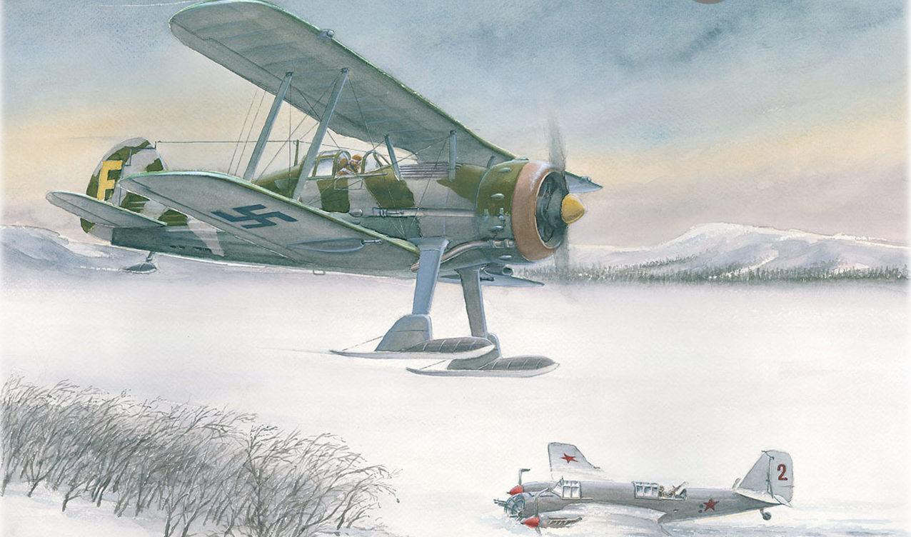 Gripenberg Sture. Истребитель Gloster Gladiator.
