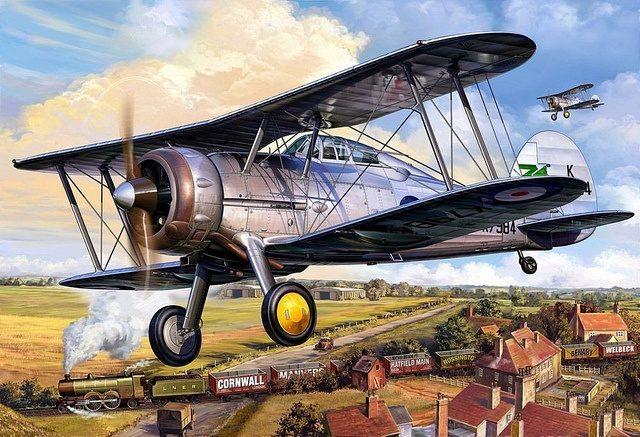 Frka Danijel. Истребитель Gloster Gladiator.