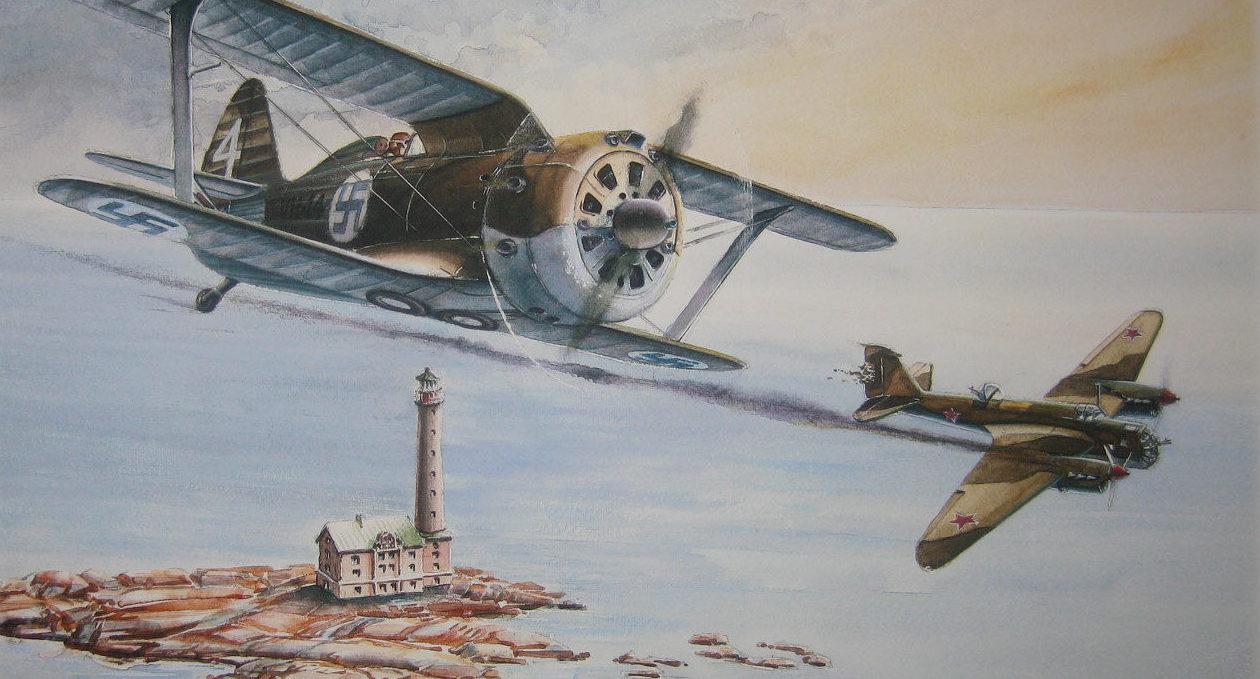 Gripenberg Sture. Истребитель И-153.