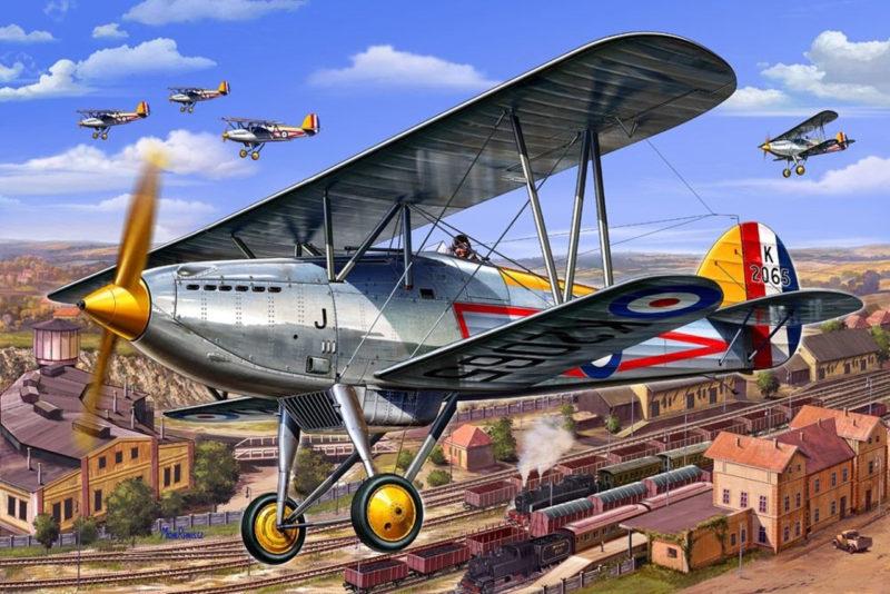 Frka Danijel. Истребитель Hawker Fury.