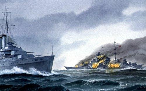 Sjöström Håkan. Пожар на линкоре «Bismarck».