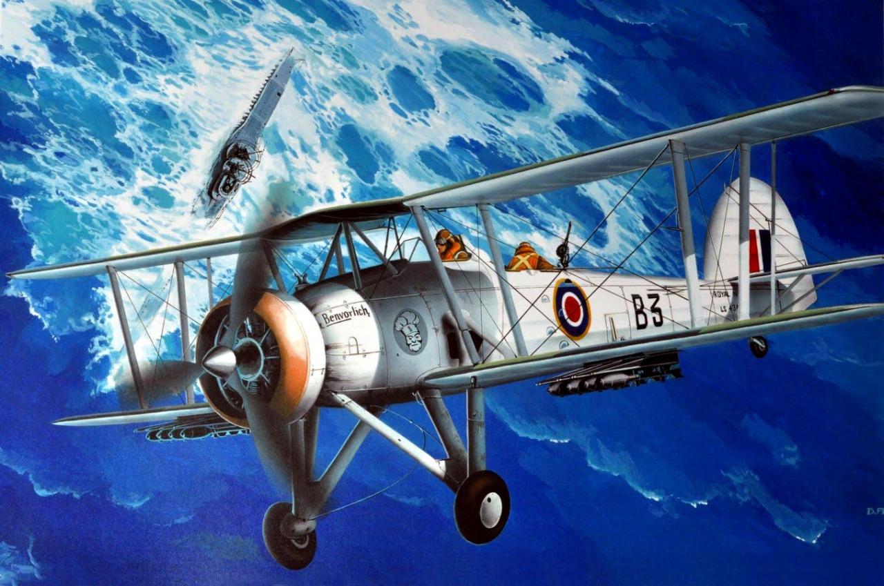 Frka Danijel. Бомбардировщик-торпедоносец Fairey Swordfish.