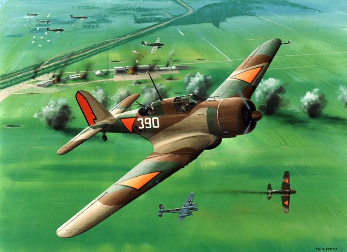 Postma Thijs. Истребитель Douglas DB-8A.