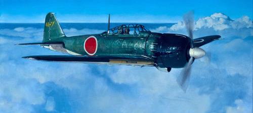 Hamilton Alex. Истребитель Mitsubishi A-6M2.