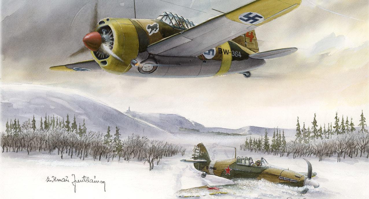 Gripenberg Sture. Истребитель Brewster BW-364.