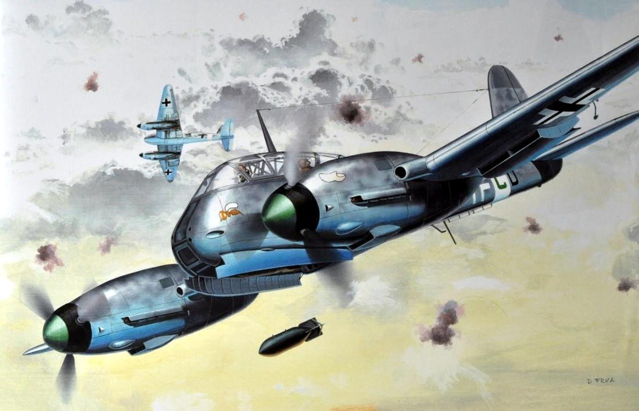 Frka Danijel. Бомбардировщик Me-210 ZG1.