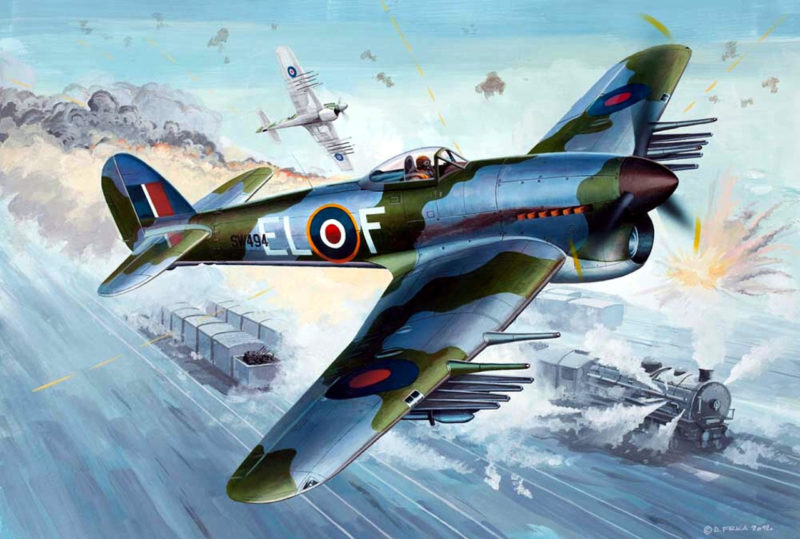 Frka Danijel. Истребитель Hawker Typhoon.
