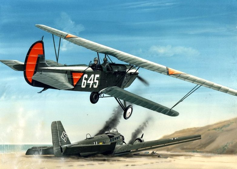 Postma Thijs. Истребитель Fokker CV.