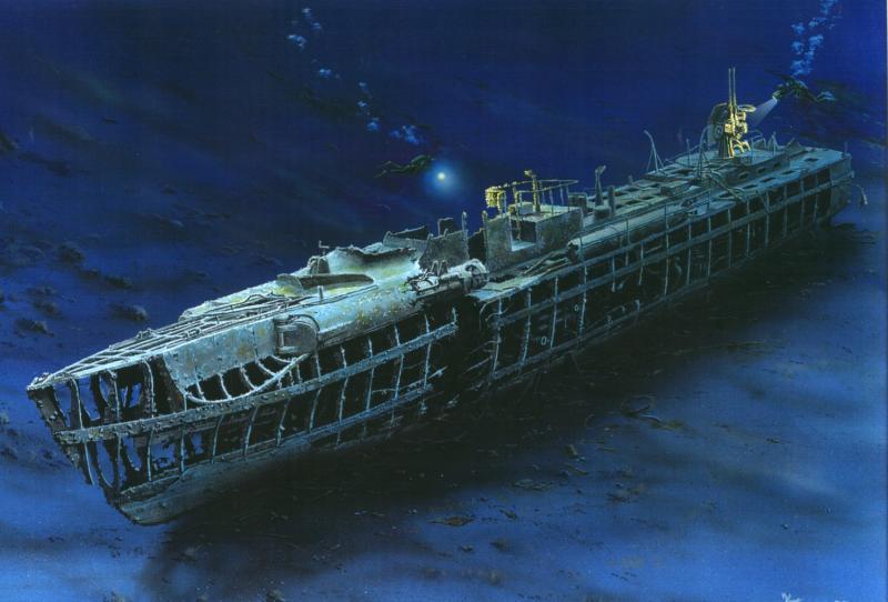 Frka Danijel. Останки лодки.