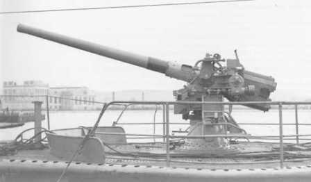 Орудие 100-mm/47 для подводных лодок образца 1931 г.