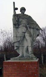 с. Малеевка Боровского р-на. Памятник на братской могиле, воинам, погибшим при освобождении села.