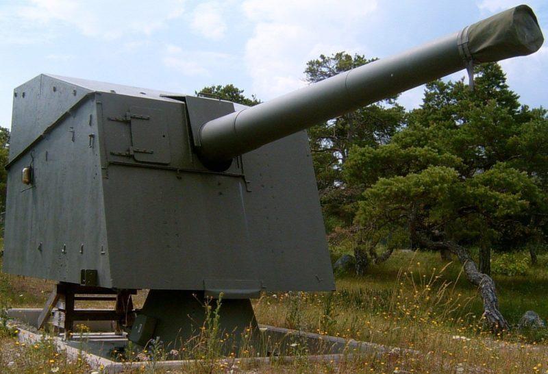 Береговой вариант орудие 15,2-cm m/98