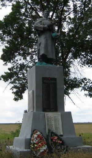 с. Щуровка Балаклейского р-на. Памятник на окраине села, установлен на братской могиле, в которой похоронено188 воинов, в т.ч. 2 неизвестных, погибших в боях за село.