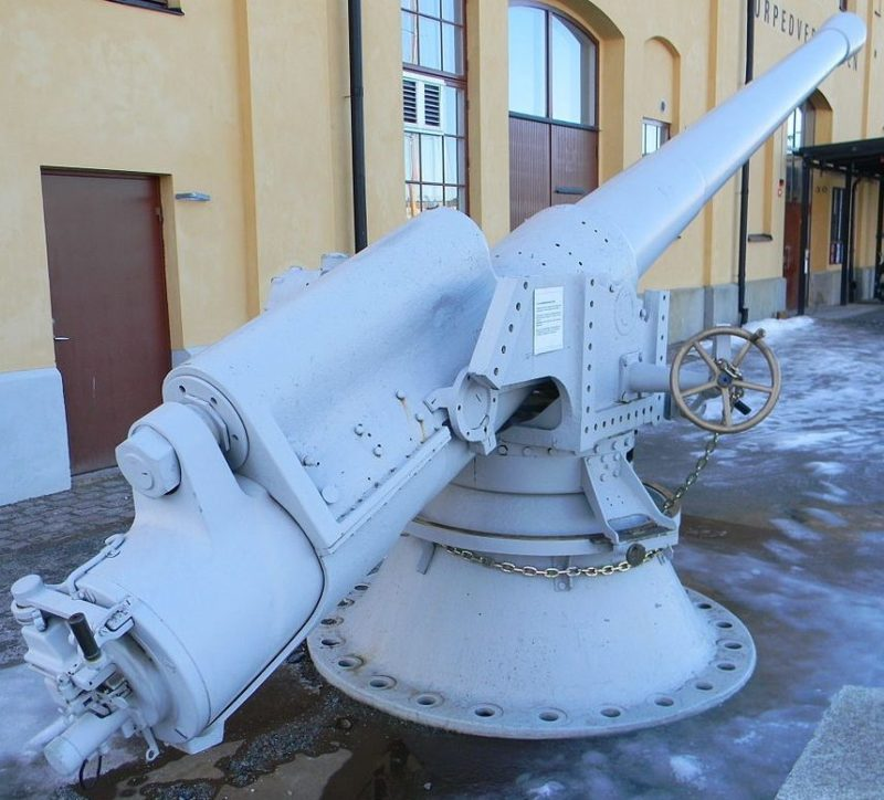 Корабельный вариант орудие 15,2-cm m/98