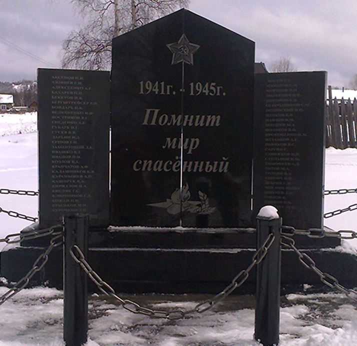 п. Коболдо Селемджинского р-на. Памятник «Стена памяти»