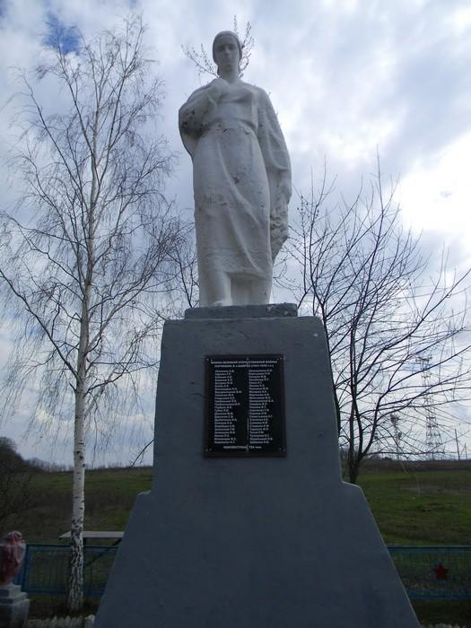 Памятник с именами погибших воинов