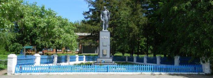 с. Воскресеновка Богодуховского р-на. Памятник в центре села, установлен на братской могиле, в которой похоронено 9 воинов. Отдельно установлена мемориальная доска с имена односельчан, погибших во время войны.