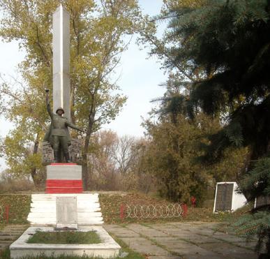 с. Грушеваха Барвенковского р-на. Братская могила.