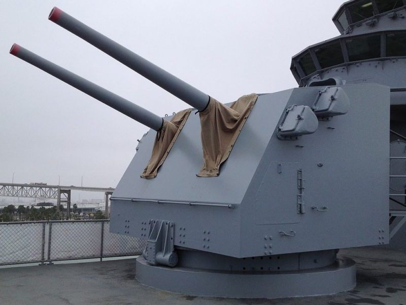 двухорудийная артустановка Mk-28
