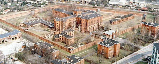 Вид тюрьмы Шпандау с высоты