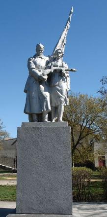 г. Балаклея. Памятник воинам-освободителям в городском сквере