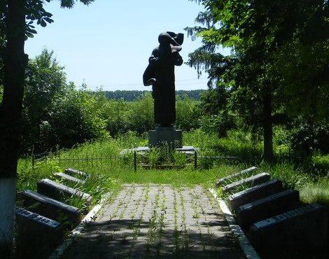 с. ЗарябинкаБогодуховского р-на. Памятник в центре села, установлен на братской могиле 57 воинов, в т.ч. 29 неизвестных. На мемориальных досках нанесены имена 161 земляка, погибшего во время войны.