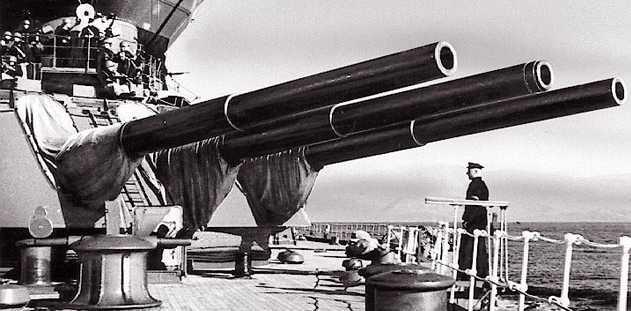 """Корабельное орудие 12""""/52 в трехорудийной башне МК-3-12"""